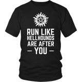 Supernatural Run Like Hellhounds Are After You Shirt Workout Tanks - NerdKudo - 3