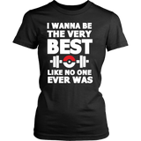 Pokemon I Wanna Be The Very Best Like No One Ever Was Shirt Workout Tanks - NerdKudo - 12
