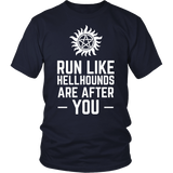 Supernatural Run Like Hellhounds Are After You Shirt Workout Tanks - NerdKudo - 2