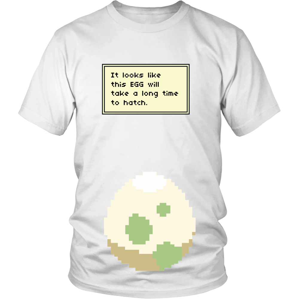0aa631d2 Pokemon It Looks Like This Egg Will Take a Long Time To Hatch Funny  Maternity Pregnancy Shirt
