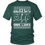 Grey's Anatomy It's A Beautiful Day To Save Lives Ugly Christmas Shirt - NerdKudo - 5
