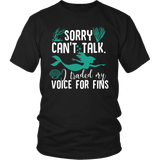 Sorry Can't Talk I Traded My Voice For Fins Shirt - NerdKudo - 4