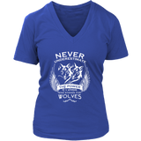 Never Underestimate The Power of A Woman Who Stands For Wolves Shirt - NerdKudo - 12