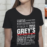 Grey's Anatomy Favorite Quotes Shirt