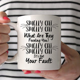 F.R.I.E.N.D.S Smelly Cat What Are They Feeding You? It's Not Your Fault 11oz Mug