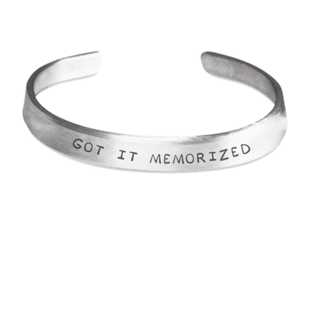 Kingdom Hearts Axel Got It Memorized Cuff Bracelet
