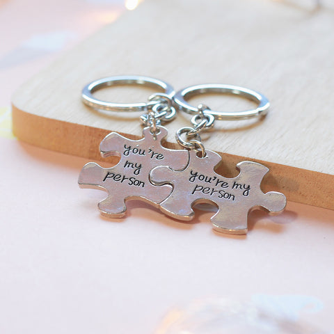 "Grey's Anatomy Inspired ""You're My Person"" Couple Keychains Key Rings by NerdKudo™"