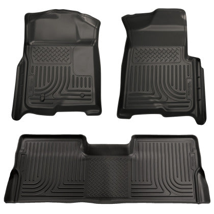 Husky Liners WeatherBeater Front & 2nd Floor Liners | 2008 - 2010 POWERSTROKE 6.4L