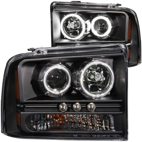 Anzo Projector Headlights Black | 111117 | 2005 - 2007 Superduty