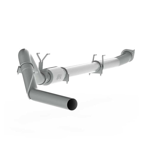 "4"" Down Pipe Back, Race System, without bungs, with muffler - P Series, 2011-2016 F250/350/450 6.7L"