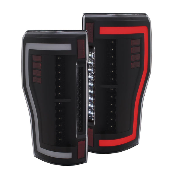Anzo LED Tail Lights Black | 311287 | 2017 - UP Superduty