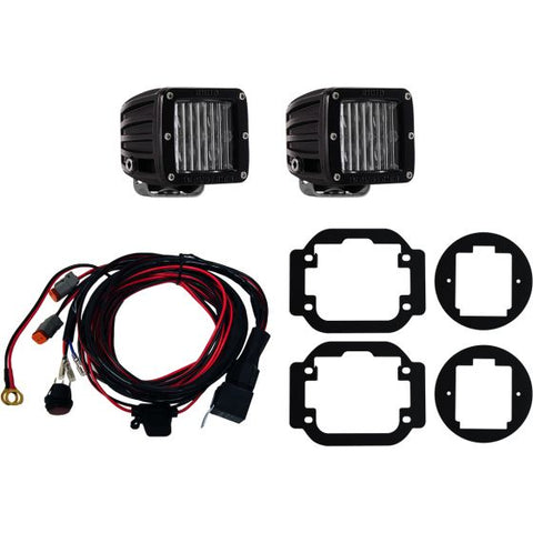Rigid Industries Fog Mount Kit W/SAE Complian D-Series Pair | 465853 | 2016 - 2017 Titan