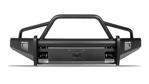 Fab Fours Black Steel Elite Front Bumper | Ford Superduty