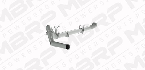 "4"" Down Pipe Back, Race System, without bungs, without muffler, - SLM Series, 2011-2016 F250/350/450 6.7L"