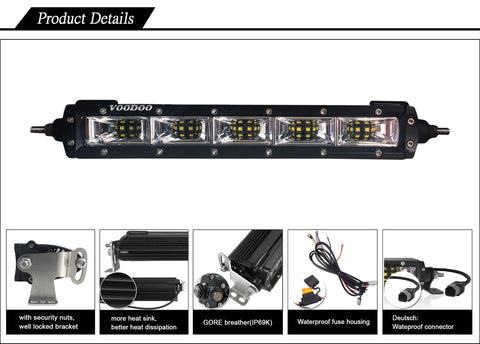 Voodoo Single Row CREE LED Scene Light Bar