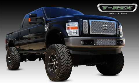 T-Rex X-Metal Series Studded Main Grille - Polished SS 3PC | 6715630 | 2008 - 2010 Superduty