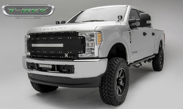 "T-Rex Torch AL Series Main Replacement Grille Black W/30"" LED Light Bar 