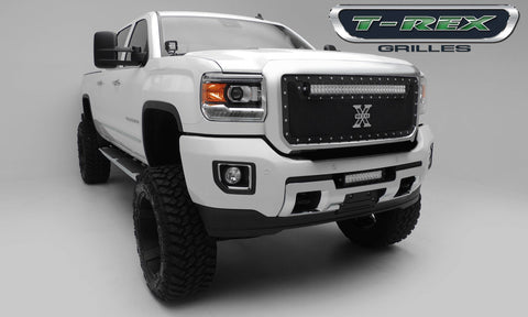 "T-Rex Torch Series LED Light Grille W/30"" LED Light Bar Formed Mesh Grille Insert 