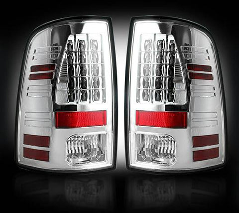 RECON LED Tail Lights Clear/Red Lens | 264236CL | 2013 - 2017 RAM 2500/3500