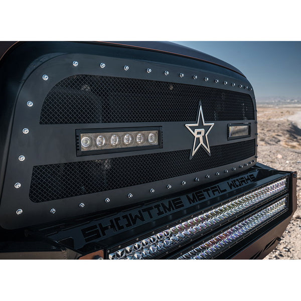 RBP Midnight Studded Frame Black Grille W/LED Lights | 967463 | 2013 - 2018 Ram 2500/3500