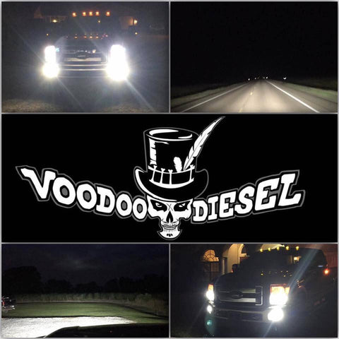 VOODOO LED H13 HI/LO BEAM 96 WATT LED 4800LM  LIFETIME WARRANTY