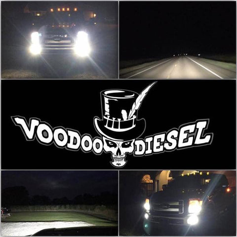 VOODOO LED H11 HI/LO BEAM 96 WATT LED 4800LM  LIFETIME WARRANTY