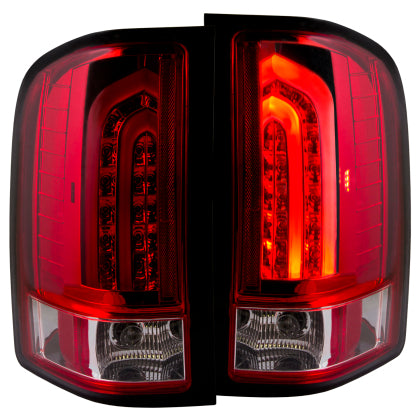 Anzo LED Tail Lights Red/Clear G2 | 311225 | 2007.5 - 2014 Silverado 2500HD/3500HD