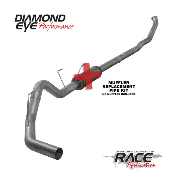 "Diamond Eye Performance 4"" Turbo Back Exhaust System Aluminized 