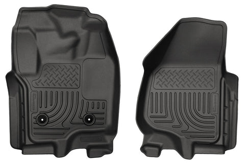 Husky Liners WeatherBeater Floor Liners Front Only 2011-2016 Ford 6.7L Powerstroke