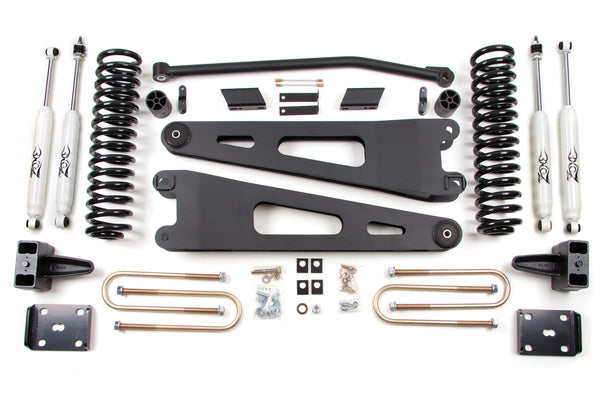 "ZONE OFFROAD F25 4"" SUSPENSION SYSTEM 2011-2016 Ford F250/F350 6.7L POWERSTROKE"