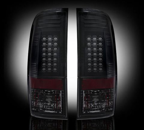 RECON  264176BK - SMOKED LED Tail Lights FOR 11-16 FORD SUPERDUTY