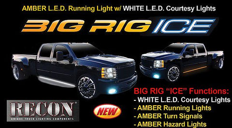 Recon Big Rig Ice LED Running Lights