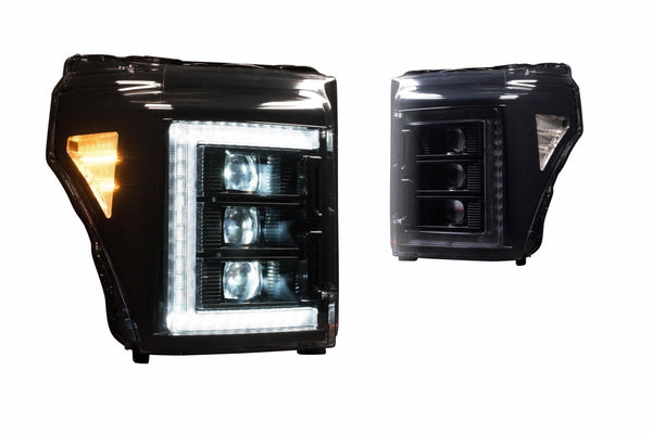 MORIMOTO - XB LED HEADLIGHTS(BLACK; PAIR) FORD SUPER DUTY (11-16)