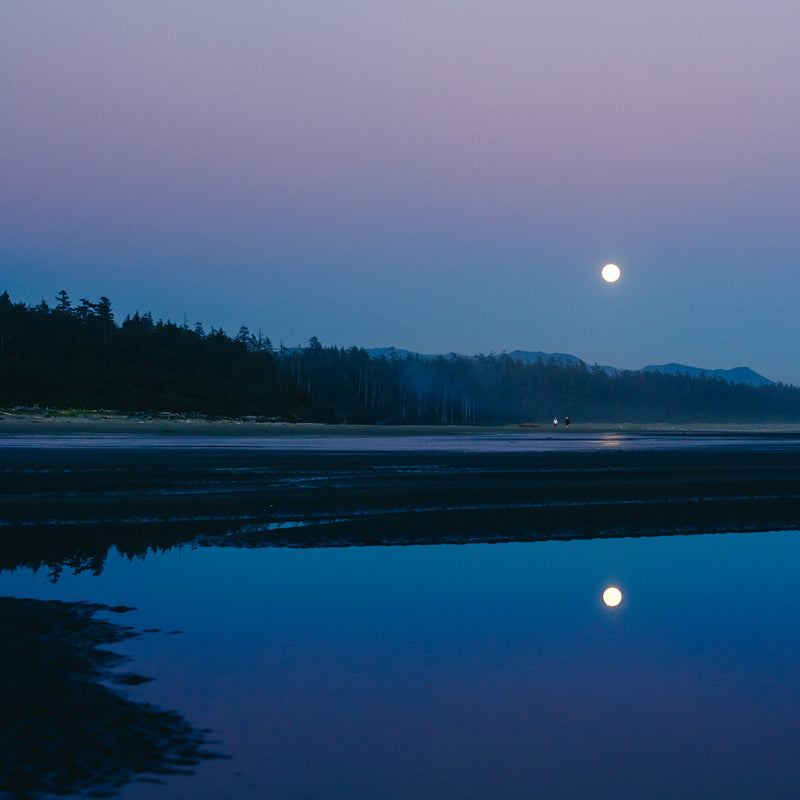 Combers Beach, Moon Reflection
