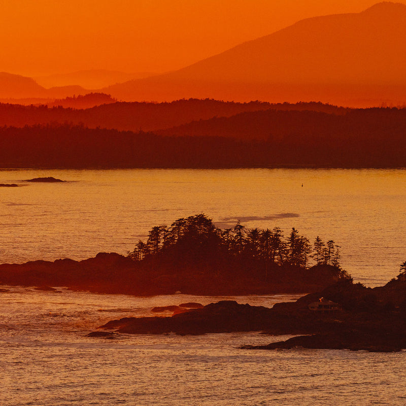 Frank Island, Fiery Sunset