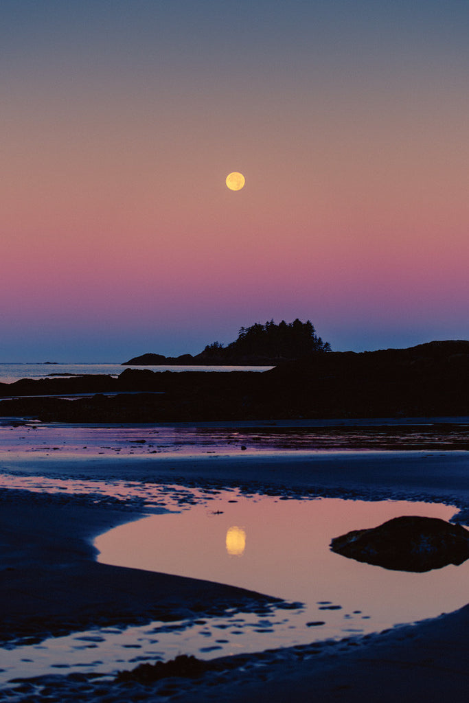 Full Moon Reflection, Chesterman's Beach