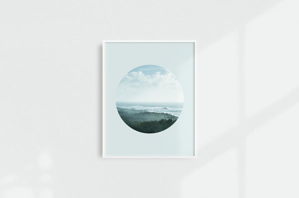 January Swell Landscape, Circular Print