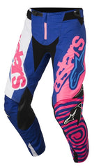 ALPINESTARS 2018 YOUTH RACER VENOM PANTS BLUE/PINK FLO/WHITE