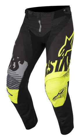 ALPINESTARS 2018 YOUTH RACER SCREAMER PANTS BLACK/YELLOW FLO/GREY