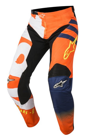 ALPINESTARS 2018 YOUTH RACER BRAAP PANTS ORANGE FLO/DARK BLUE/WHITE