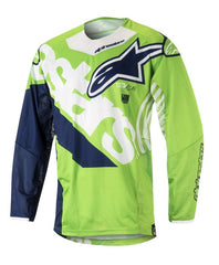 ALPINESTARS 2018 YOUTH RACER VENOM JERSEY GREEN FLO/WHITE/DARK BLUE