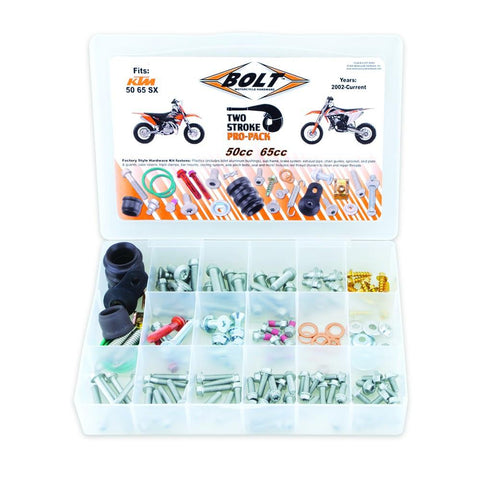 Bolts & Fasteners - BOLT HARDWARE EURO STYLE 2T PRO PACK FASTENER KIT SX50-65 02-17