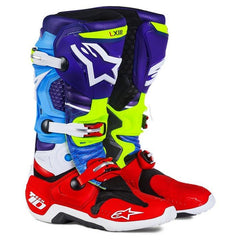 Boots - ALPINESTARS TECH 10 BOOT VENOM LIMITED EDITION BLUE/RED/CYAN/YELLOW