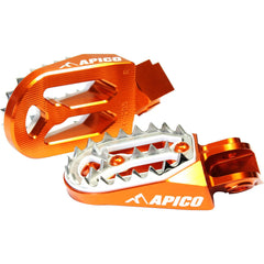 Footpegs - APICO FOOT PEG PRO-BITE KTM 65-530 98-16 (Colour Options)