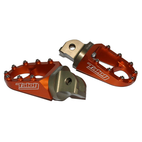 Footpegs - TALON MX FOOTPEGS TWO PIECE KTM/HUSA/HUSKY125-530 98-16, SX65-85 >17 (Colour Options)