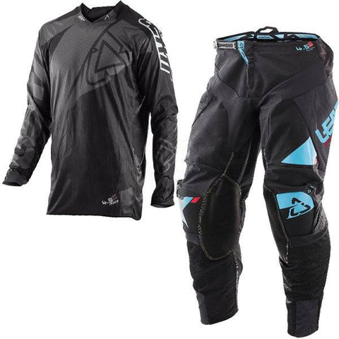 MX Kit Combos - 2017 Leatt GPX 4.5 Lite Motocross Kit Combo In Black Grey