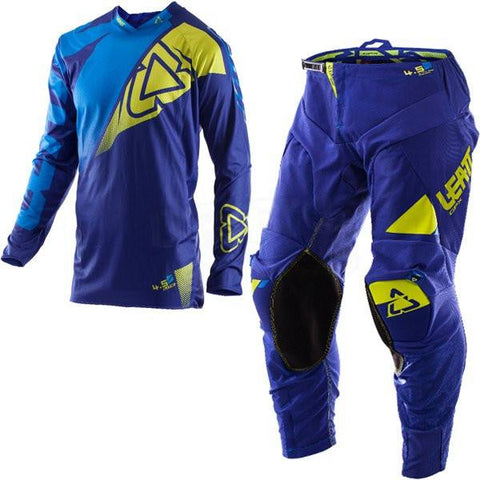 MX Kit Combos - 2017 Leatt GPX 4.5 Lite Motocross Kit Combo In Blue Lime