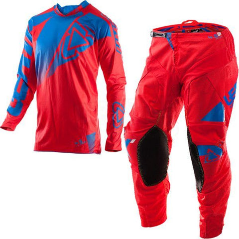 MX Kit Combos - 2017 Leatt GPX 4.5 Lite Motocross Kit Combo In Red Blue