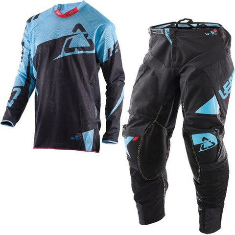 MX Kit Combos - 2017 Leatt GPX 4.5 X-Flow Motocross Kit Combo In Black Blue