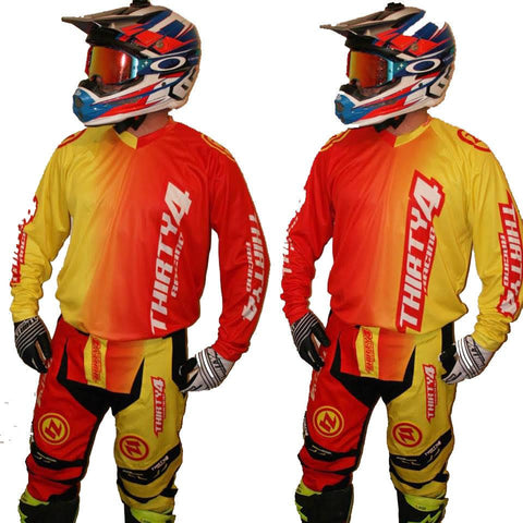 MX Kit Combos - 2017 Thirty4 Racing Revolution Motocross/MX Kit Combos (Adult) Red/Yellow